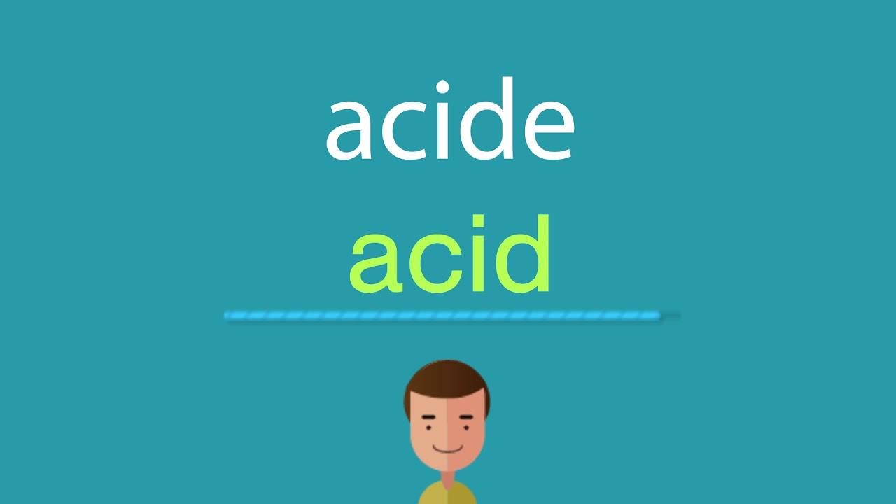 acide anglais