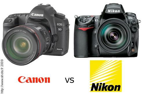 appareil photo nikon ou canon
