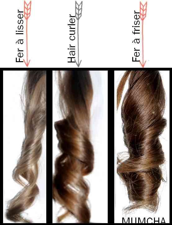 appareil pour faire des boucles dans les cheveux