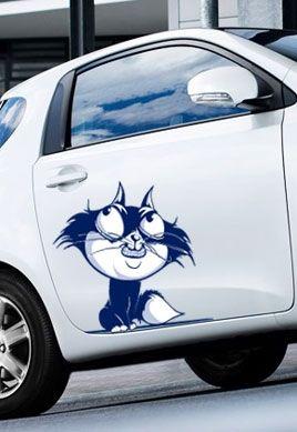 autocollant voiture chat