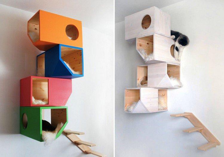 arbre a chat mural design