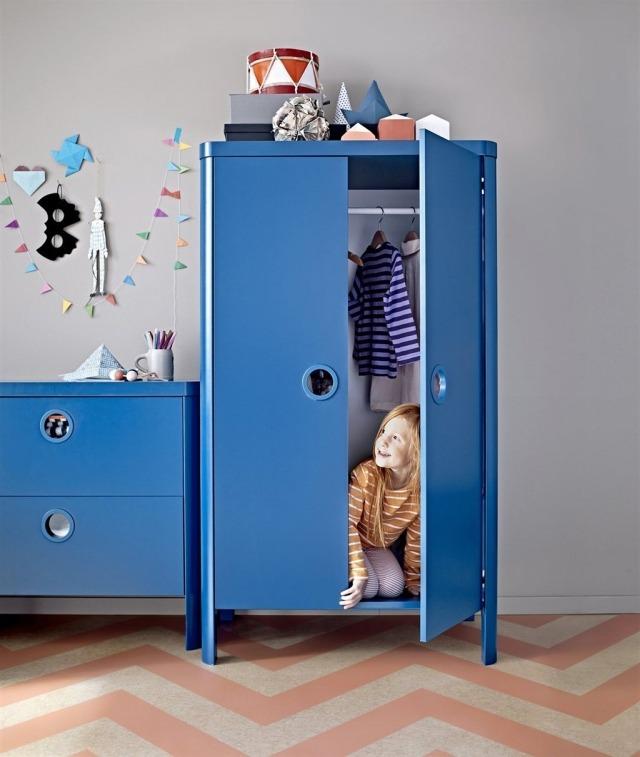 armoire enfant bleu