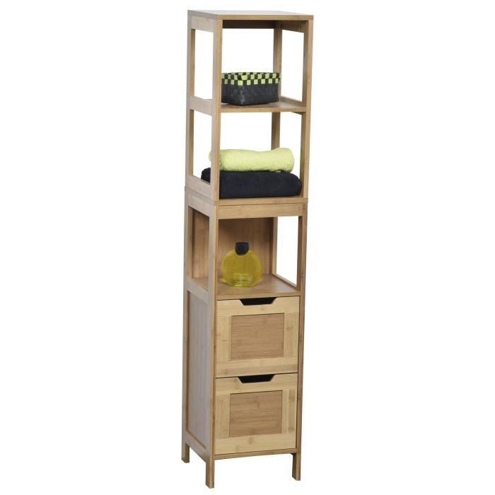 armoire salle de bain bambou