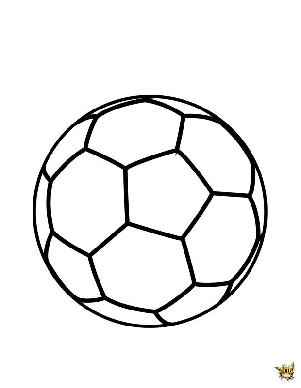 ballon de foot à colorier