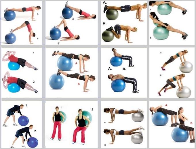 ballon pour exercices gym