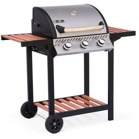 barbecue gaz bruleur inox