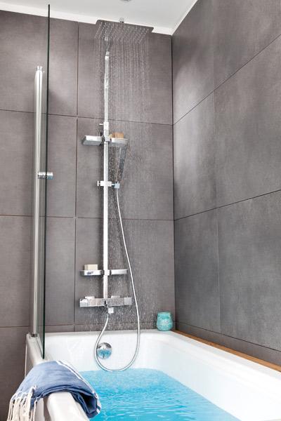 barre de douche pour baignoire