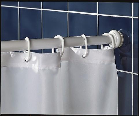 barre de rideau de douche extensible
