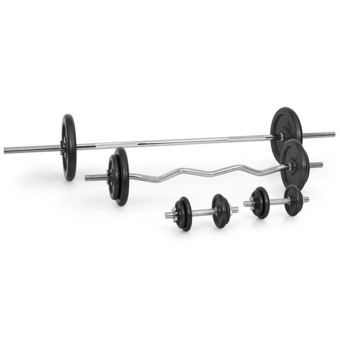 barre et poids musculation