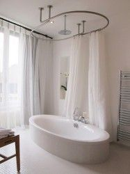 barre rideau de douche baignoire
