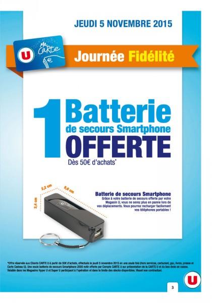 batterie externe super u