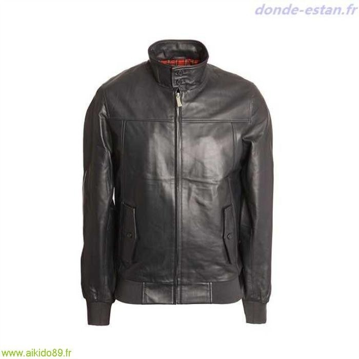 blouson harrington cuir