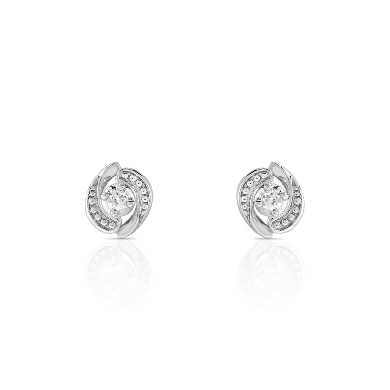 boucle oreille or blanc