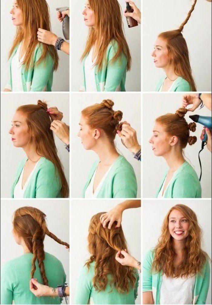 boucle ses cheveux