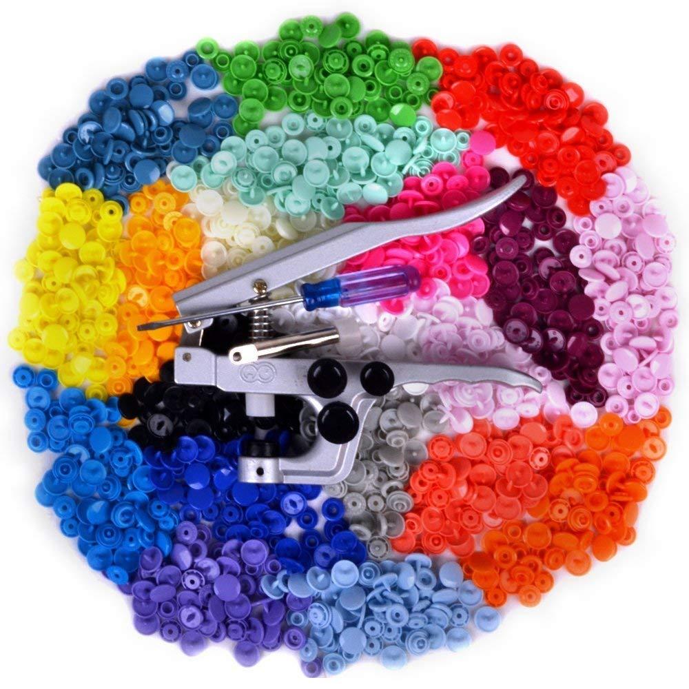 bouton pression plastique couleur