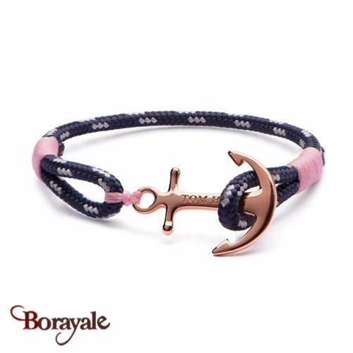 bracelet ancre rose