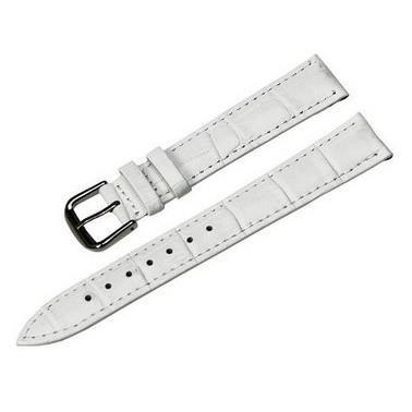 bracelet montre cuir blanc