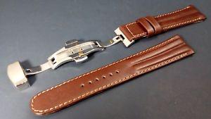 bracelet montre cuir boucle deployante