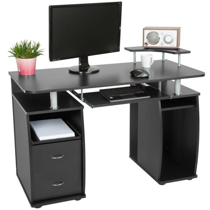 bureau ordinateur noir