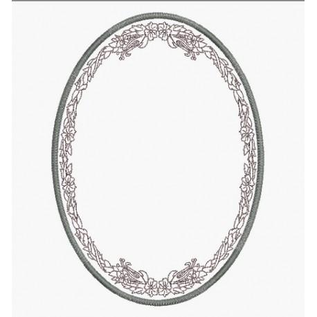 cadre médaillon ovale