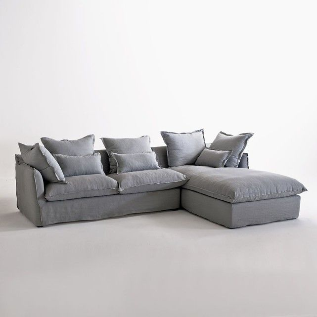 canapé d'angle lin