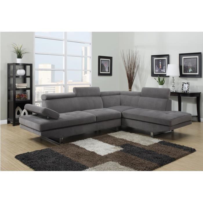 canapé gris angle