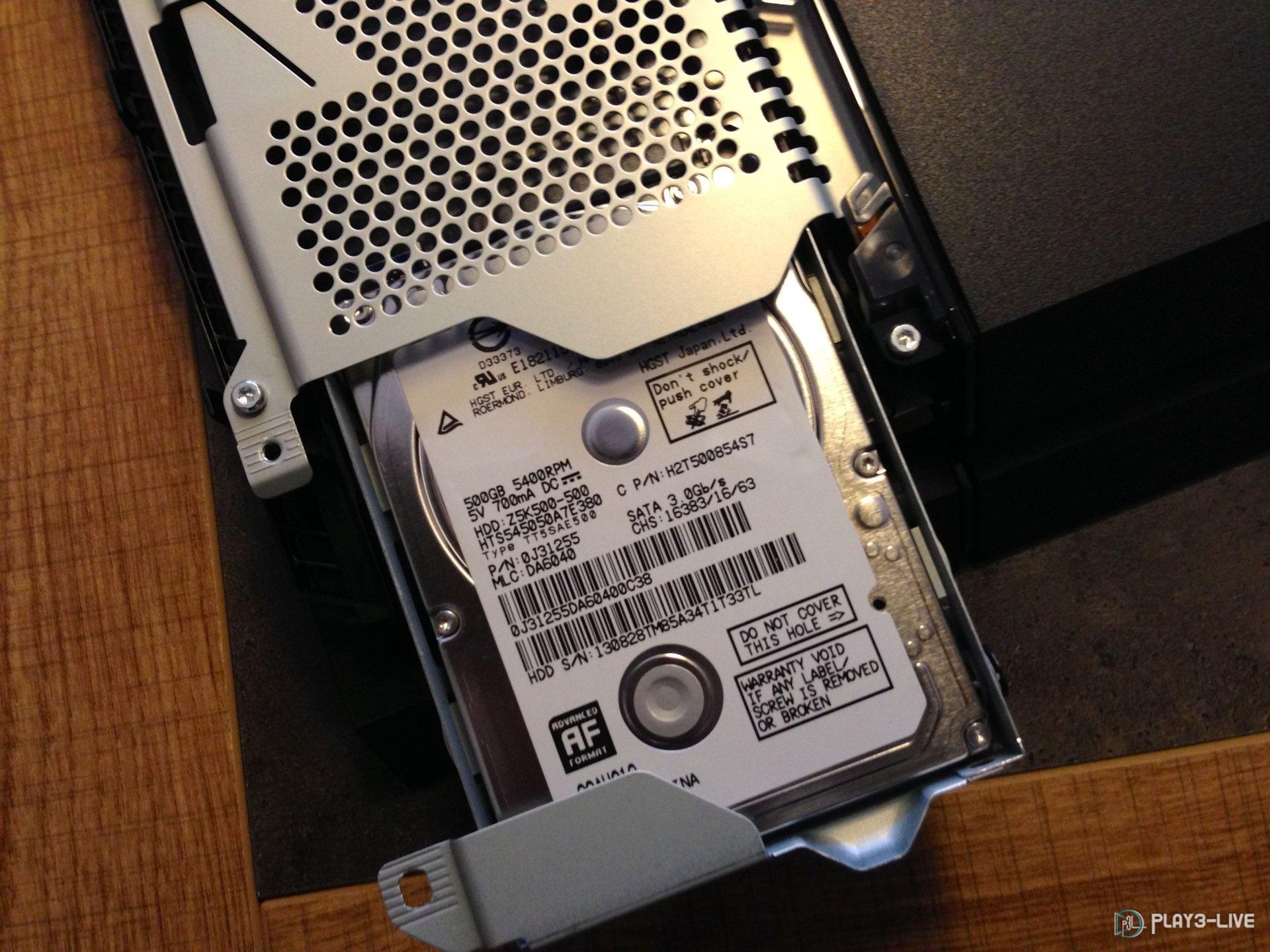 caractéristique disque dur ps4