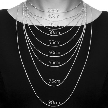 chaine argent femme 40 cm