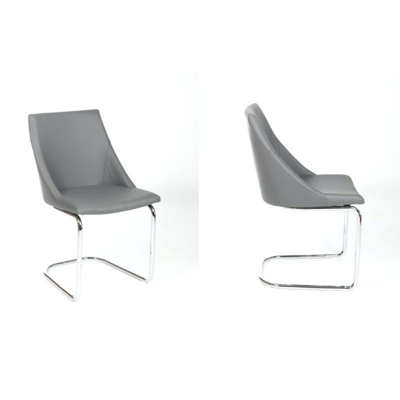 chaise pied chromé