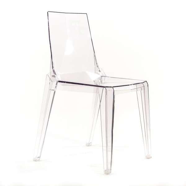 chaise plexi transparente
