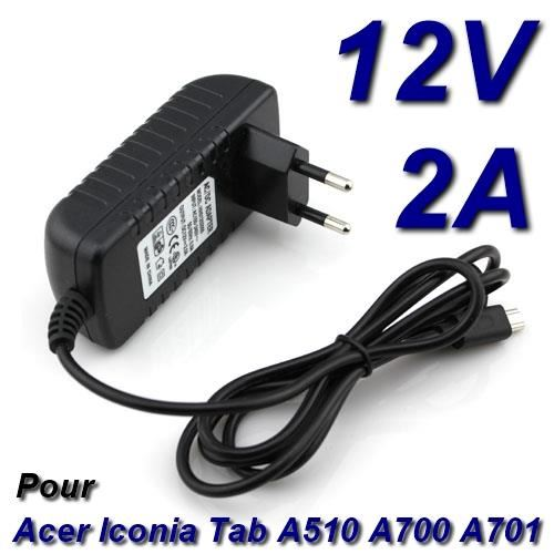 chargeur tablette acer