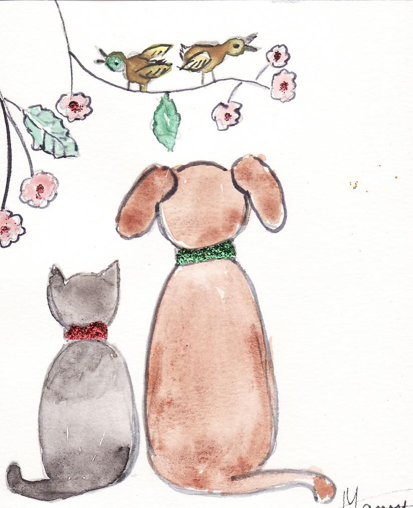 chien de dos dessin