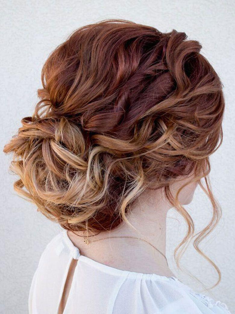 coiffure chignon cheveux bouclés