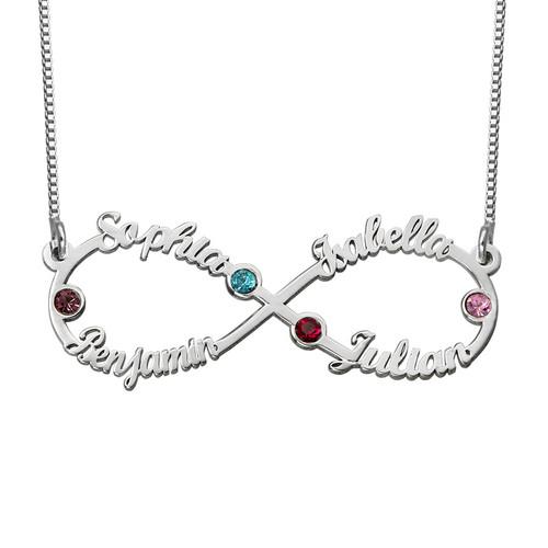 collier infini avec prenom