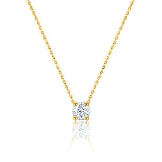 collier or jaune et diamant