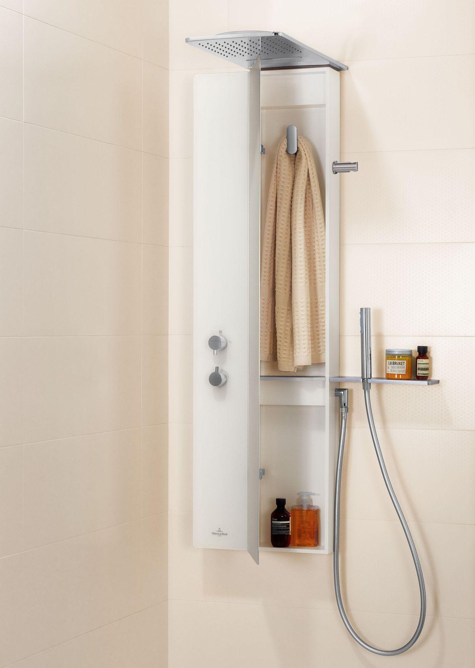 colonne douche avec rangement