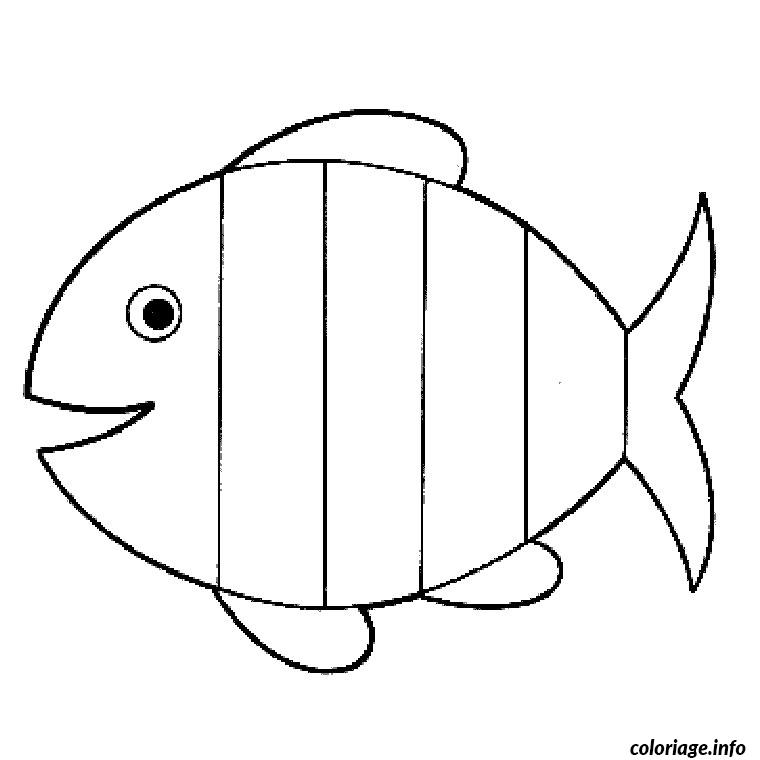 coloriage simple poisson