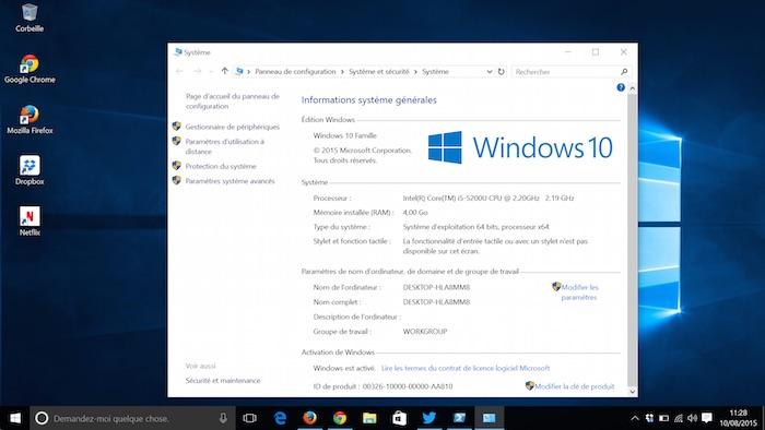comment est windows 10