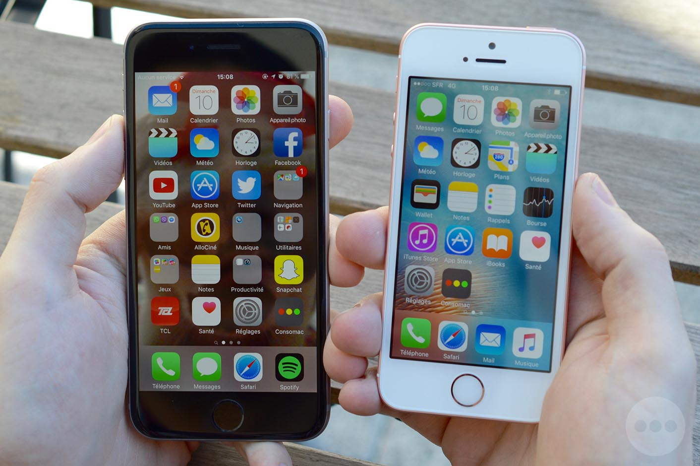 comparer iphone se et 6s