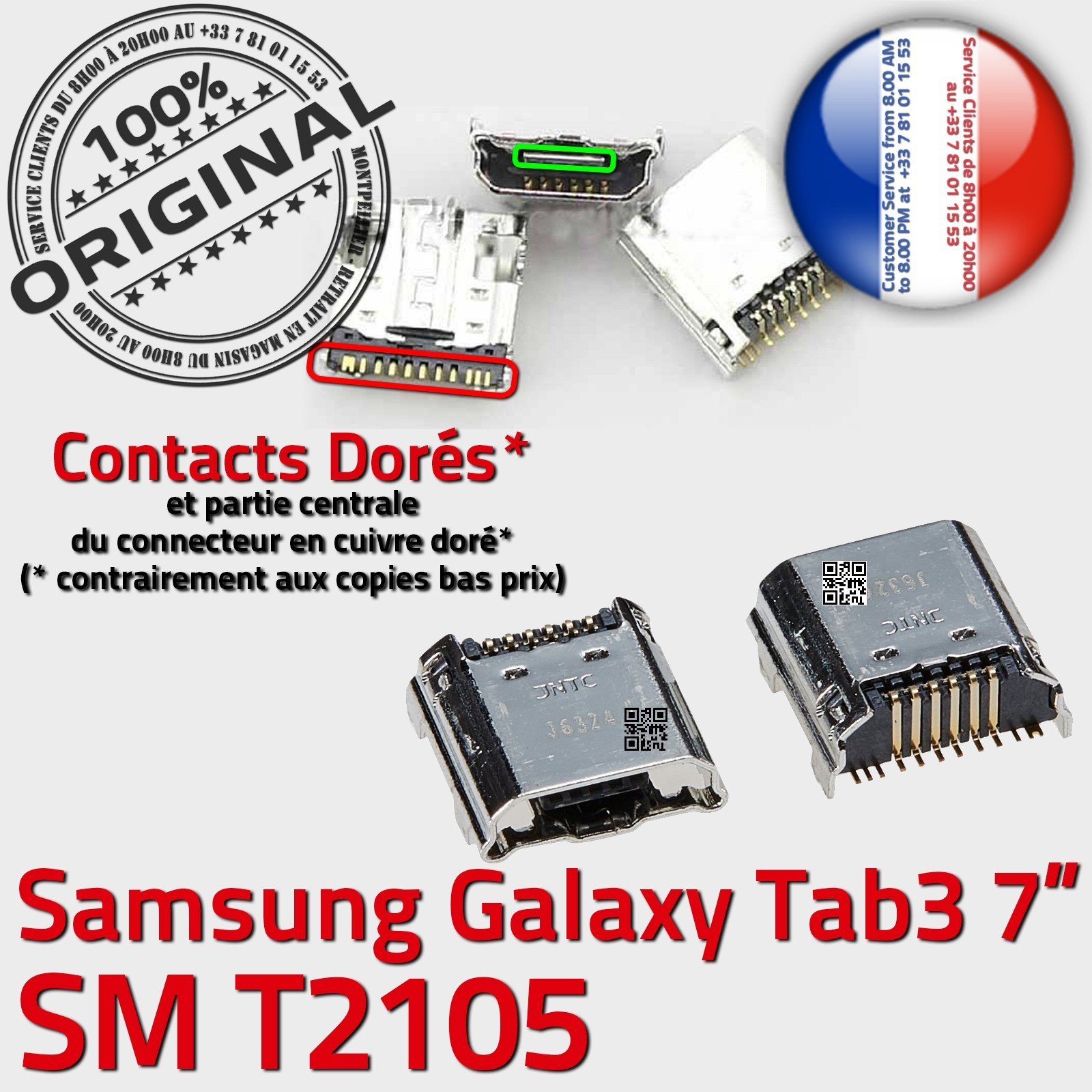 connecteur de charge tablette samsung galaxy tab 3
