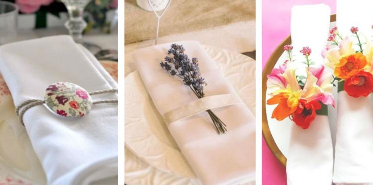 décoration serviette mariage