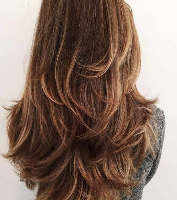 dégradé pour cheveux long