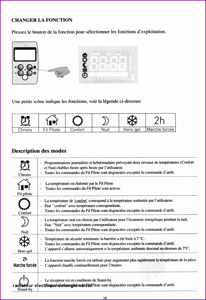 delonghi radiateur notice
