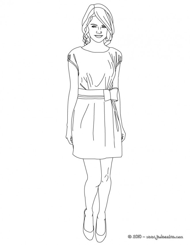 dessin de fille top model