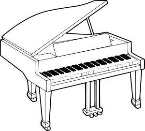 dessin piano noir et blanc