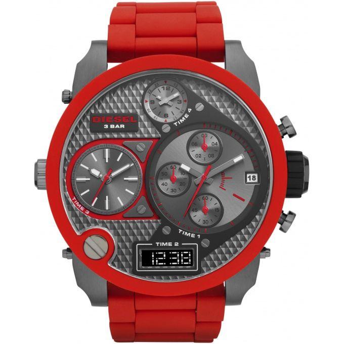 diesel montre rouge
