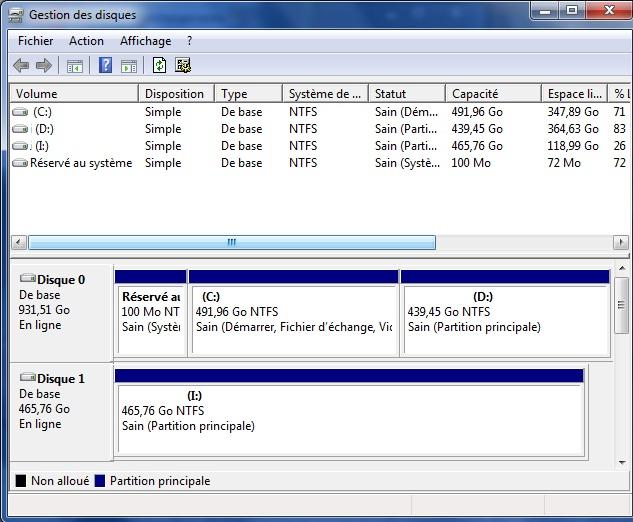disque dur externe raw
