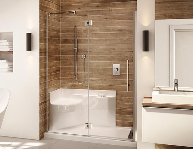 douche avec banc intégré