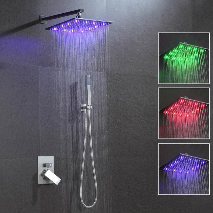 douche avec led