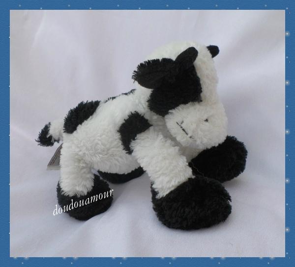 doudou vache noir et blanc
